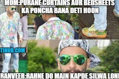 Ranveer Singh's Way of Using Old Curtains And Bedsheets.