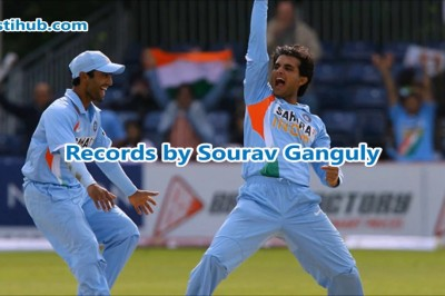 Records Held By Sourav Ganguly